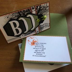 Handmade Halloween Cards (Set of 2 with 2 Tags)